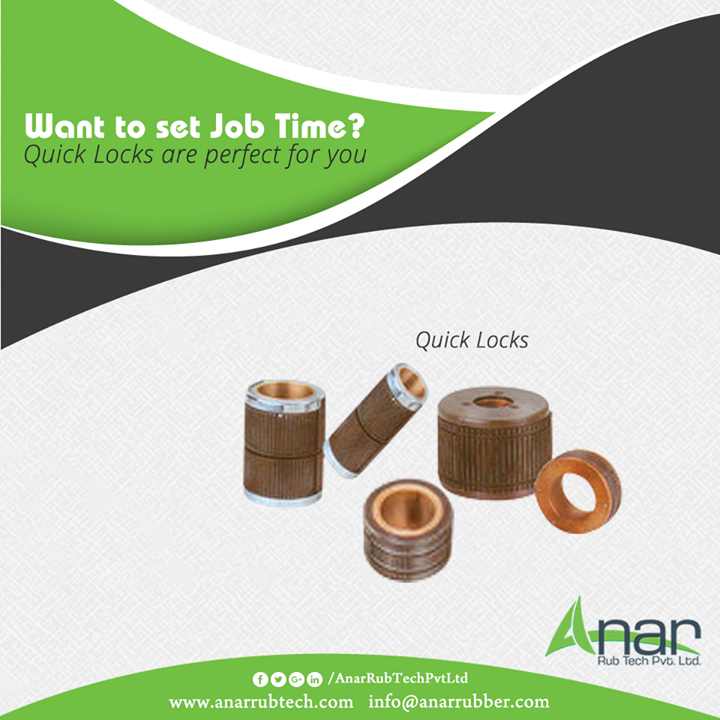 Quick Locks by Anar Rub Tech saves job setting time at any time of processing machines into manufacturing. #QuickLocks #QuickLocksManufacturers #QuickLocksSuppliers #QuickLocksExporters