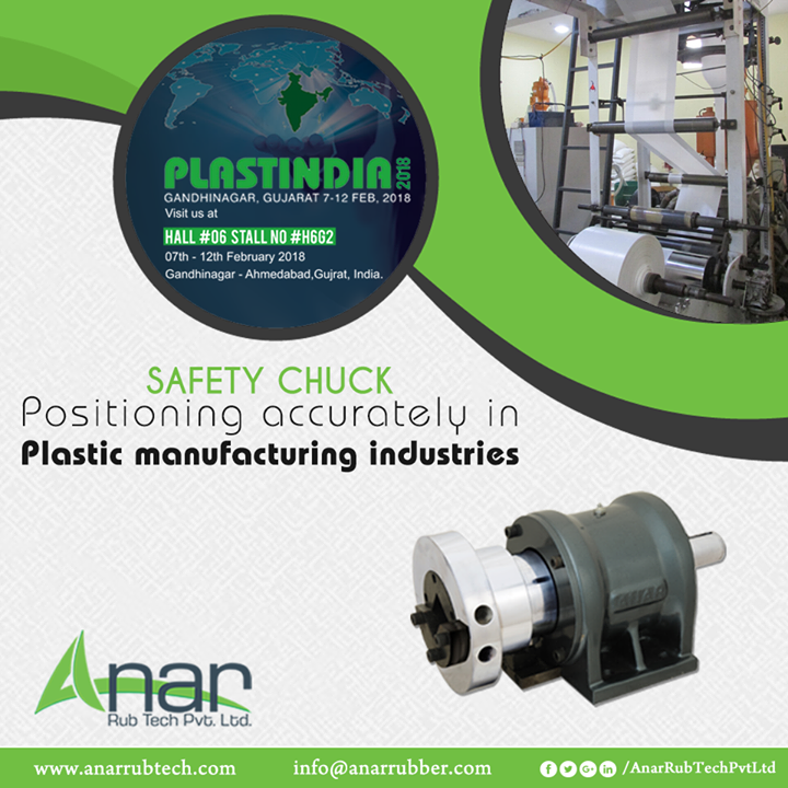 Safety Chuck by Anar Rub Tech are showcased in PLASTINDIA 2018 for its highly utilization plastic industry. #SafetyChuck #SafetyChuckManufacturers #SafetyChuckSuppliers #SafetyChuckExporters