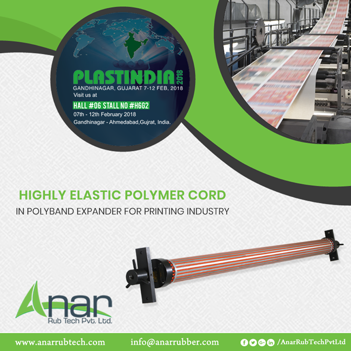 Polyband Expander from Anar Rub Tech has highly elastic cord for better performance in any printing or packaging work.  #PolybandExpander #PolybandExpanderManufacturers #PolybandExpanderSuppliers #PolybandExpanderExporters