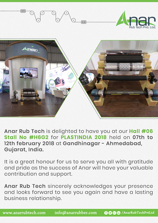 Thankyou customers ! Anar Rub Tech is grateful to have you all as valuable customers and looks forward to deal with you #plastindia2018 #plastindia