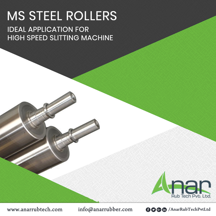 A new product from Anar Rub Tech MS Steel Roller is an ideal appliance to be used for coating and laminating in High Speed Slitting Machine.  #MSSteelRoller #MSSteelRollerManufacturers #MSSteelRollerSuppliers #MSSteelRollerExporters