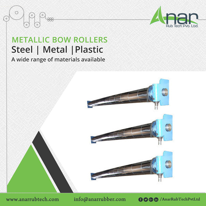 High quality Metallic Bow Rollers from Anar Rub Tech are available in different materials like steel, metallic and plastic for convenient operations and easy manufacturing process #MetallicBowRollers #MetallicBowRollersManufacturers #MetallicBowRollersSuppliers #MetallicBowRollersExporters