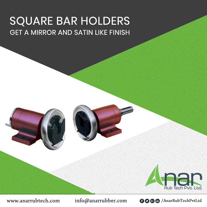 Square Bar Holders from Anar Rub Tech gives a mirror and satin like finishing and makes it suitable for holding any huge devices or heavy appliances.  #AnarRubTechPvtLtd