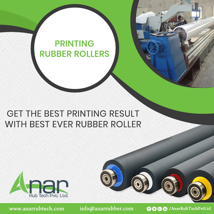 For the best printing results, one needs Printing Rubber Rollers by Anar Rub Tech for its excellent performance in printing.  #PrintingRubberRollers #PrintingRubberRollersManufacturers #PrintingRubberRollersSuppliers #PrintingRubberRollersExporters