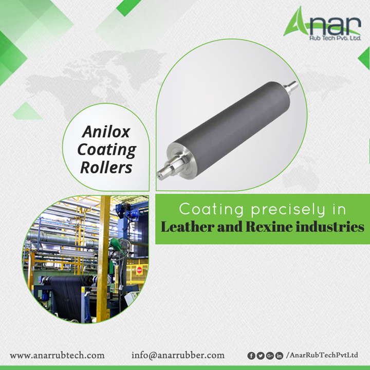 A prominent product Anilox Coating Roller from Anar Rub Tech is high in quality and it precisely coats for leather and rexine industries. #AniloxCoatingRoller #AniloxCoatingRollerManufacturers #AniloxCoatingRollerSuppliers #AniloxCoatingRollerExporters