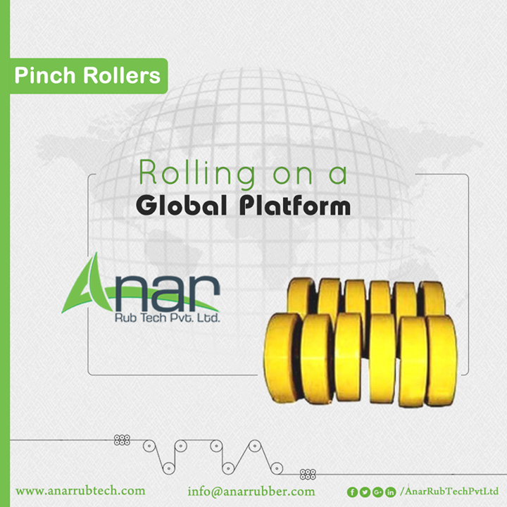 Pinch Rollers from Anar Rub Tech are exported on international basis for easing the manufacturing process and operational activities.  #PinchRollers #PinchRollersManufacturers #PinchRollersSuppliers #PinchRollersExporters