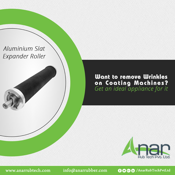 For removing wrinkles on coating machines, utilize Aluminium Slat Expander Roller from Anar Rub Tech and remove wrinkles with ease and convenience.  #AluminiumSlatExpanderRoller #AluminiumSlatExpanderRollerManufacturers #AluminiumSlatExpanderRollerSuppliers #AluminiumSlatExpanderRollerExporters