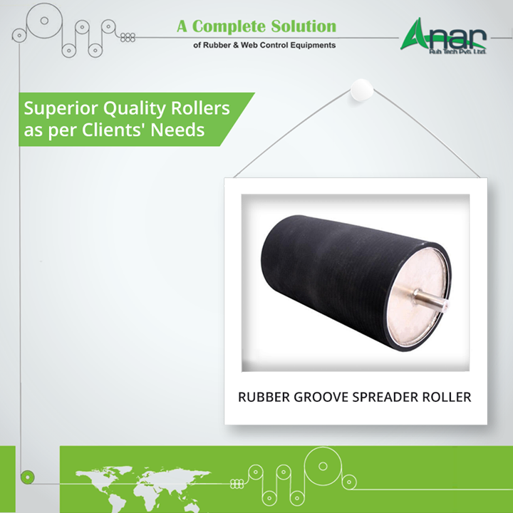 Rubber Groove Spreader Rollers by Anar Rub Tech delivers superior quality in rolling and gives the result as per client's tailor made needs and requirements.  #RubberGrooveSpreaderRollers #RubberGrooveSpreaderRollersManufacturers #RubberGrooveSpreaderRollersSuppliers #RubberGrooveSpreaderRollersExporters