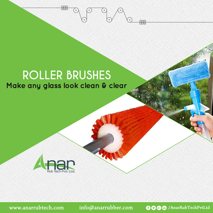 Greater Diameter and more length, Roller Brushes from Anar Rub Tech are an apt product for cleaning any glass or washing. #RollerBrushes #RollerBrushesManufacturers #RollerBrushesSuppliers #RollerBrushesExporters