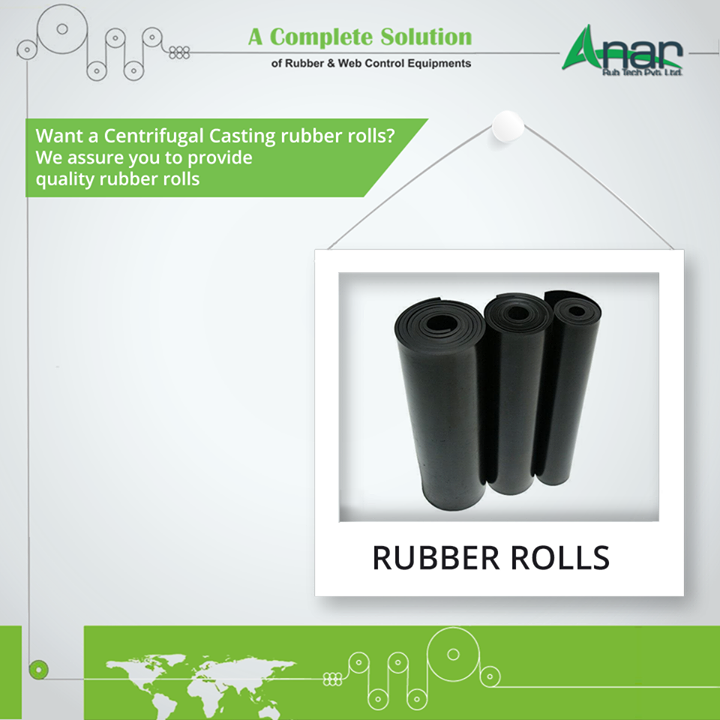 For a centrifugal casting method, Rubber Rolls from Anar Rub Tech are solutions which provides consistency in quality and reliability.  #RubberRolls #RubberRollsManufacturers #RubberRollsSuppliers #RubberRollsExporters
