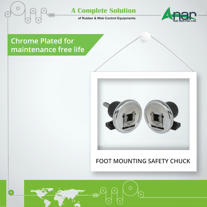Foot Mounting Safety Chuck from Anar Rub Tech are coated with chrome to give maintenance free life and optimum performance results. #SafetyChuck #SafetyChuckManufacturers #SafetyChuckSuppliers #SafetyChuckExporters