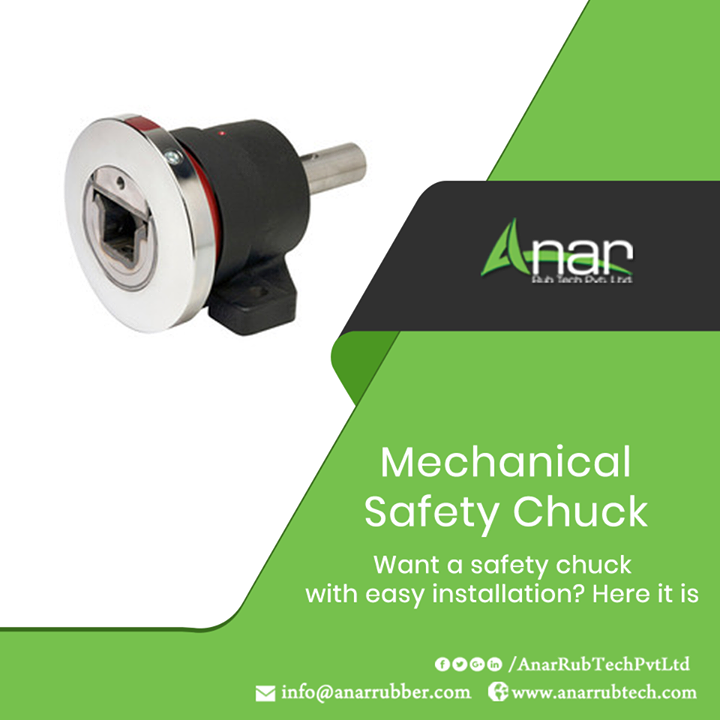 Mechanical Safety Chuck from Anar Rub Tech is the ideal appliance which is easy to install and rotate automatically which ensures uniformity and consistency in movement of rollers.  #SafetyChuck #SafetyChuckManufacturers #SafetyChuckSuppliers #SafetyChuckExporters