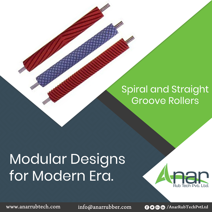 Spiral and Straight Groove Rollers from Anar Rub Tech are designed in a modular way to give the modern touch on spirals and designs.  #AnarRubTechPvtLtd