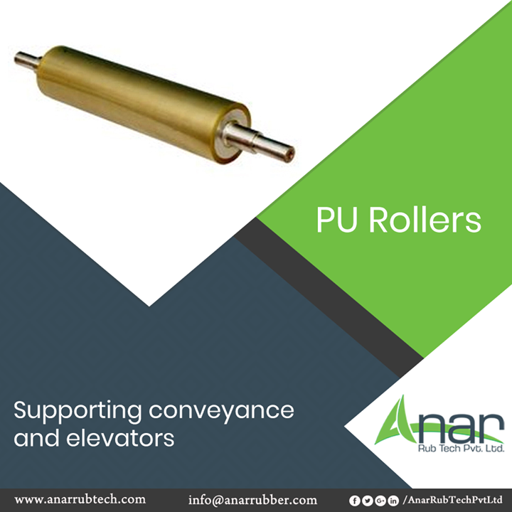 For support and ease in conveyors and elevators, PU Rollers from Anar Rub Tech are suitable and gives continuous grip without any breakage.  #PURollers #PURollersManufacturers #PURollersSuppliers #PURollersExporters