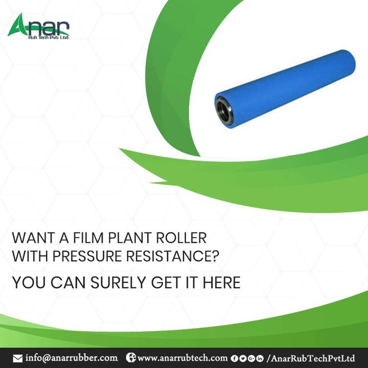 Anar Rub Tech manufactures Film Plant Roller with Pressure Resistance which has other abrasion resistance and high durability qualities for better performance. #FilmPlantRoller #FilmPlantRollerManufacturers #FilmPlantRollerSuppliers #FilmPlantRollerExporters