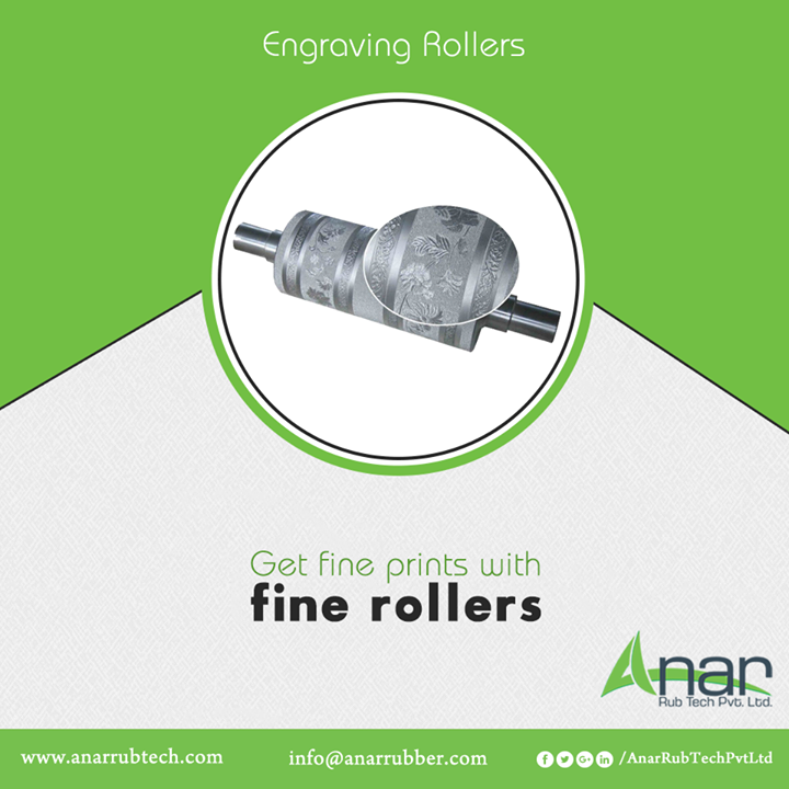 Engraving Rollers by Anar Rub Tech are made with premium quality that gives the accuracy in printing on sarees and dupattas with a wide range of designs.  #EngravingRollers #EngravingRollersManufacturers #EngravingRollersSuppliers #EngravingRollersExporters