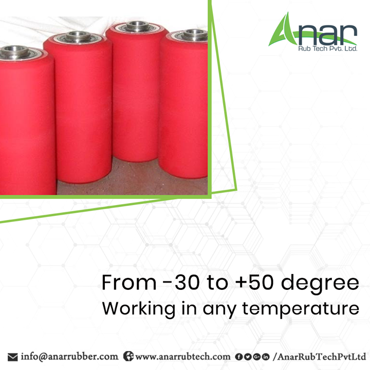 Polyurethane Rollers by Anar Rub Tech are manufactured with expertise and premium engineered that it works from -30 to 50 degrees with quality output.  #PolyurethaneRollers #PolyurethaneRollersManufacturers #PolyurethaneRollersSuppliers #PolyurethaneRollersExporters