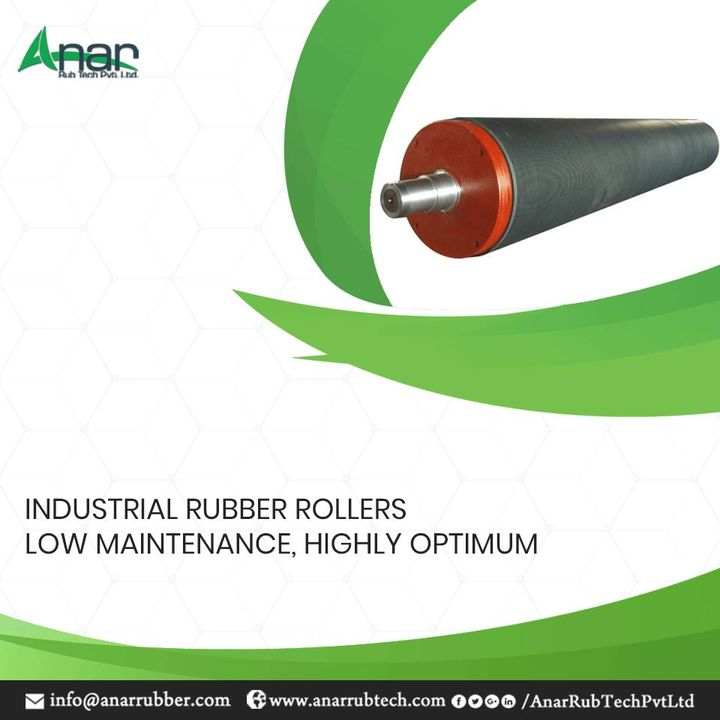 Being one of the largest manufacturers, Anar Rub Tech is manufacturing rubber rollers which has a flexibility that makes it a good performer. #IndustrialRubberRollers #IndustrialRubberRollersManufacturers #IndustrialRubberRollersSuppliers #IndustrialRubberRollersExporters