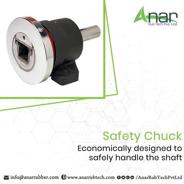 Safety Chuck by Anar Rub Tech is designed appropriately to deliver the best outcomes while handling the shaft and adjusting it in correct manner. #SafetyChuck #SafetyChuckManufacturers #SafetyChuckSuppliers #SafetyChuckExporters