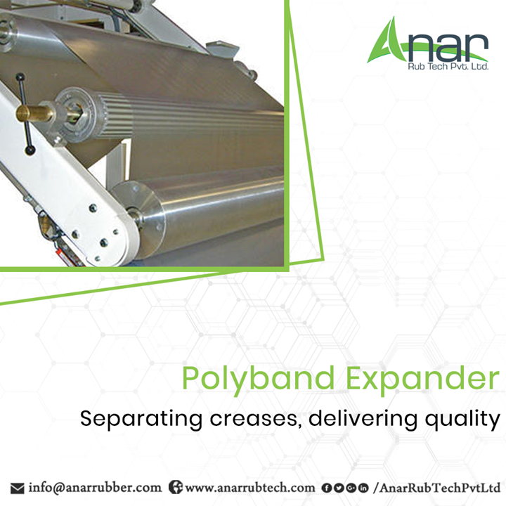 Polyband Expander by Anar Rub Tech is giving fineness and quality by separating creases after slitting.  #PolybandExpander #PolybandExpanderManufacturers #PolybandExpanderSuppliers #PolybandExpanderExporters