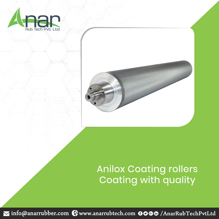 Anilox Coating rollers are skillfully manufactured by Anar Rub Tech which gives a uniform depth to every material and coats with thickness and hardness. #AniloxCoatingrollers #AniloxCoatingrollersManufacturers #AniloxCoatingrollersSuppliers #AniloxCoatingrollersExporters