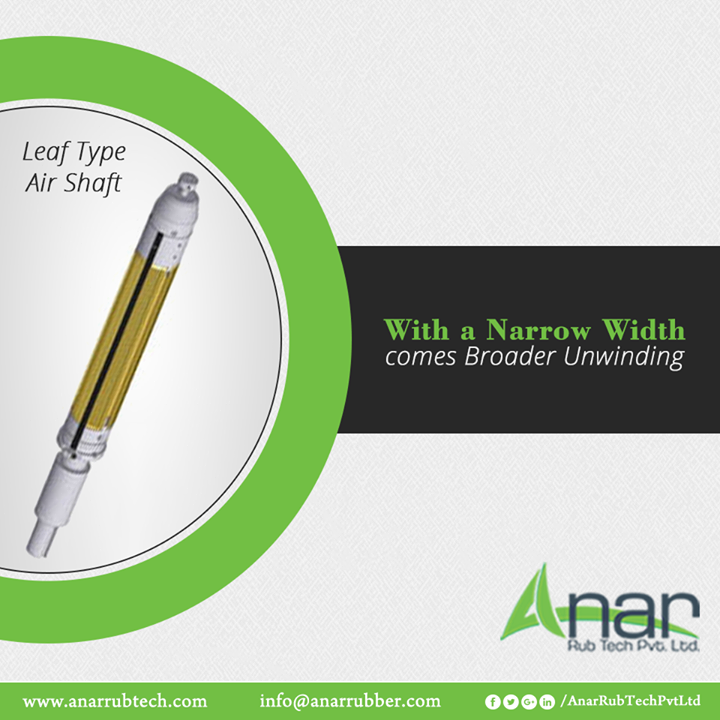Leaf Type by Anar Rub Tech is ideal for unwinding at any stage and it prevents damage to thin cores.  #LeafTypeAirShaft #LeafTypeAirShaftManufacturers #LeafTypeAirShaftSuppliers #LeafTypeAirShaftExporters