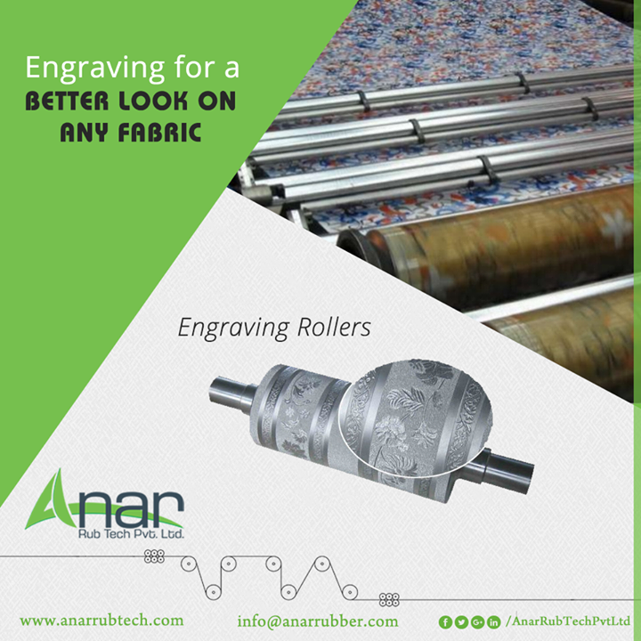 Engraving roller by Anar Rub Tech gives an embossed texture on any fabric and suitable for textile industry for better performance.  #EngravingRollers #EngravingRollersManufacturers #EngravingRollersSuppliers #EngravingRollersExporters
