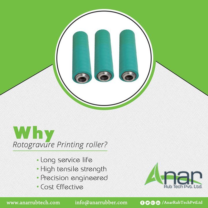 Rotogravure Printing Roller by Anar Rub Tech is the ideal roller with long lasting life engineered with precision and also made cost effective with optimum utilization of resources.  #AnarRubTechPvtLtd