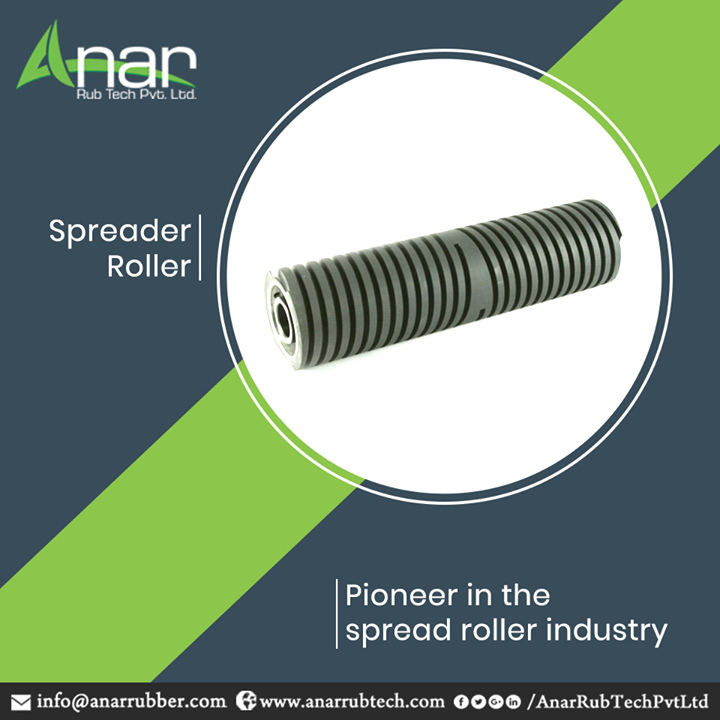 Spreader Rollers by Anar Rub Tech are manufactured with superior quality and better performance which makes us the best ever provider for paper and clothing industries.  #SpreaderRollers #SpreaderRollersManufacturers #SpreaderRollersSuppliers #SpreaderRollersExporters