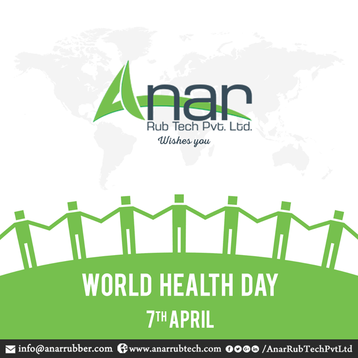 On this World Health Day, let us make a habit of having healthy food and developing a healthy lifestyle. Anar Rub Tech feels proud to take an initiative towards health.  #WorldHealthDay #HealthDay #AnarRubTechPvtLtd