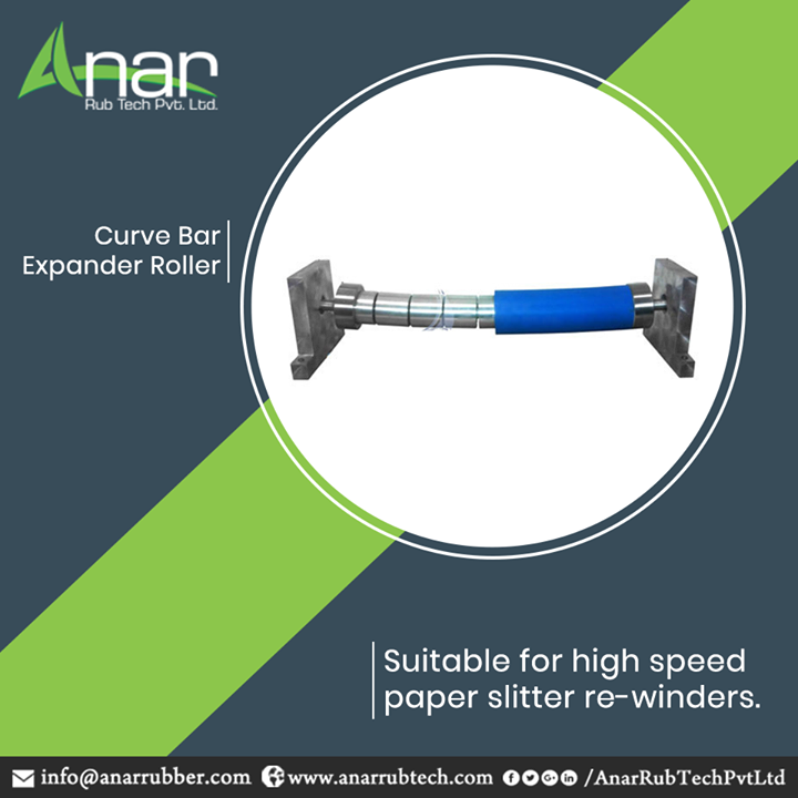Curve Bar Expander Roller by Anar Rub Tech is suitable for high speed paper slitter re-winders for removing wrinkles and slitting to separate slits. #CurveBarExpanderRoller #CurveBarExpanderRollerManufacturers #CurveBarExpanderRollerSuppliers #CurveBarExpanderRollerExporters