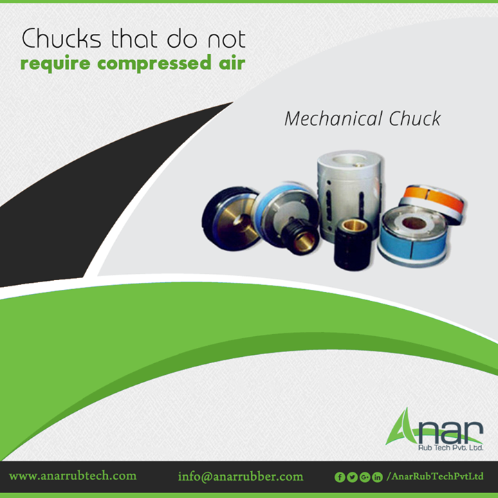 Mechanical Chucks by Anar Rub Tech are an easy installation devices that can function without any requirement of compressed air.  #MechanicalChucks #MechanicalChucksManufacturers #MechanicalChucksSuppliers #MechanicalChucksExporters