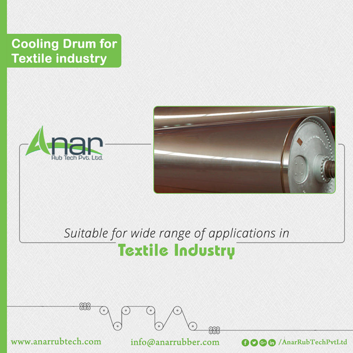 Cooling Drums by Anar Rub Tech are apt products to be utilized in Textile industries for superior performance and optimum utilization of resources.  #AnarRubTechPvtLtd