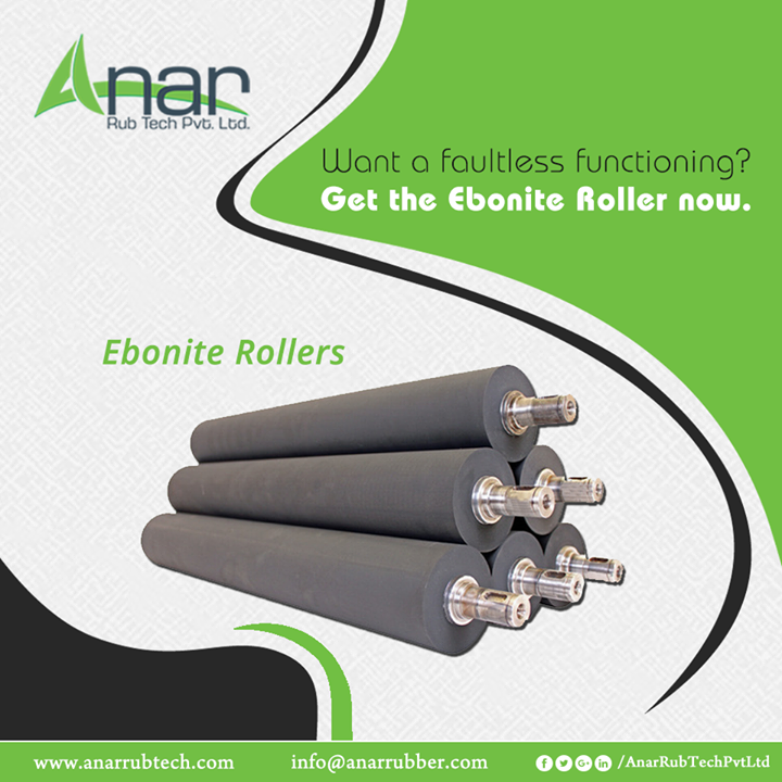 Ebonite Roller by Anar Rub Tech gives the faultless functioning in the manufacturing operations that not only saves time but also curtails the cost.  #EboniteRoller  #EboniteRollerManufacturers #EboniteRollerSuppliers #EboniteRollerExporters