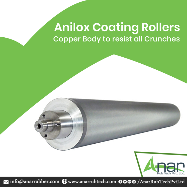 Anilox Coating Rollers by Anar Rub Tech are made purely with Copper to resist against all the adversities from corrosion. #AniloxCoatingRollers #AniloxCoatingRollersManufacturers #AniloxCoatingRollersSuppliers #AniloxCoatingRollersExporters
