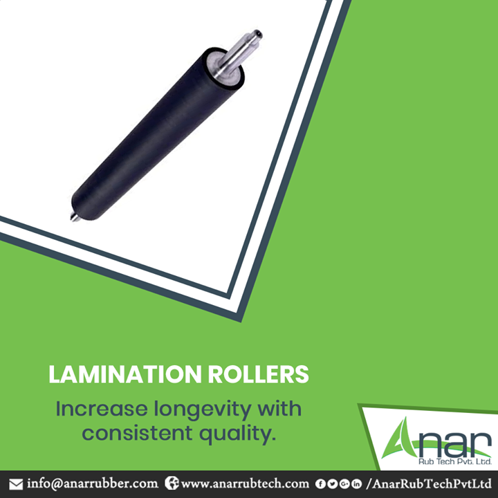 Increase the life of lamination machines and also get the superior quality print with advanced Lamination Rollers by Anar Rub Tech.  #LaminationRollers #LaminationRollersManufacturers #LaminationRollersSuppliers #LaminationRollersExporters