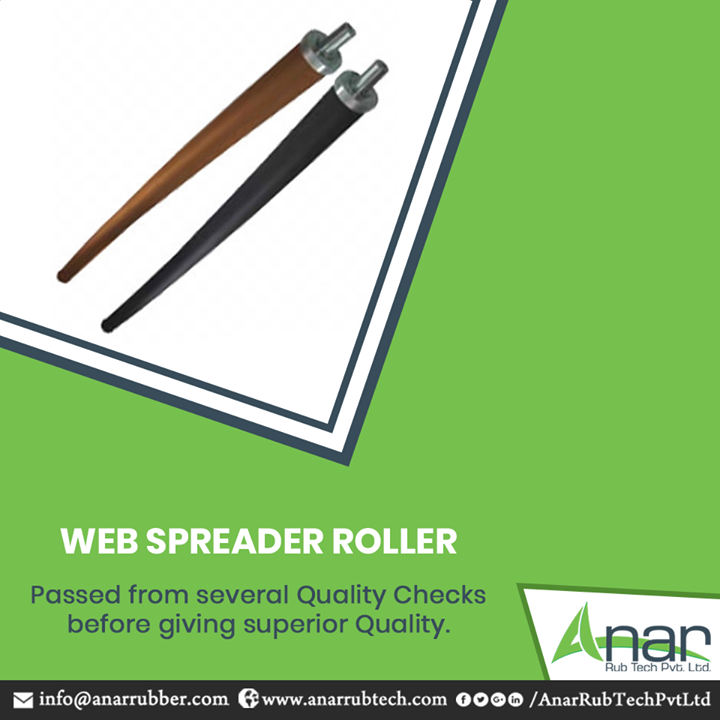 Web Spreader Rollers by Anar Rub Tech are the prominent products that are passed on from several quality checks before rolling out for the final outcome and giving ultimate results.  #WebSpreaderRollers  #WebSpreaderRollersManufacturers #WebSpreaderRollersSuppliers #WebSpreaderRollersExporters