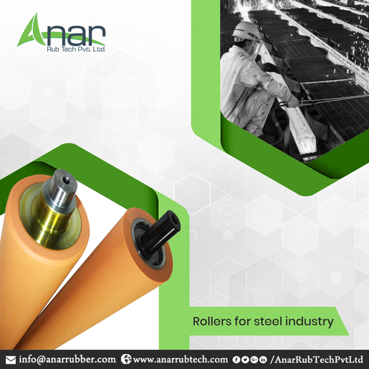 Anar Rub Tech specialises in rollers for steel industry and has drawn attention for its optimum quality raw materials and sophisticated technology that are combined under strict industrial standards. From precise designing to reliable operations, our company is known for its dedicated services for the steel industry. Our products are known for their high efficiency, excellent performance and long operational life. #AnarRubTechPvtLtd
