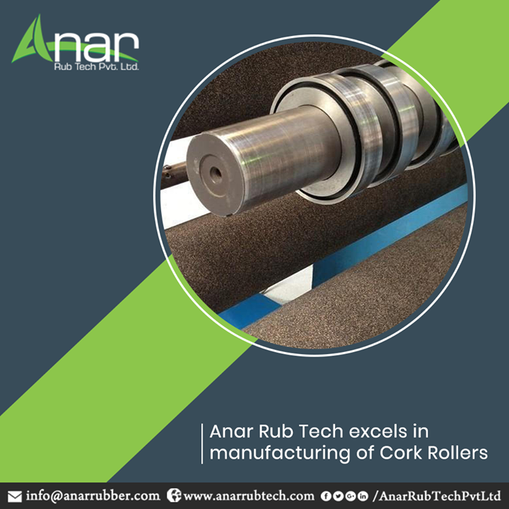 We are known for our dedicated manufacturing units for cork rollers. Manufactured with superior quality of films, the rollers have dynamic properties like good abrasion, aging resistant finish. If that is what you need, Anar Rub Tech is the best place to look for them. We deal with all the three kinds of cork rollers- drum rollers, niprollers, and transport rollers. #CorkRollers #CorkRollersManufacturers #CorkRollersSuppliers #CorkRollersExporters