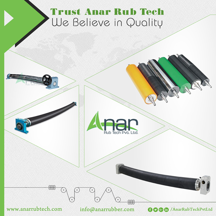 We are distributors of commercial and industrial grade rubber products. Anar Rub Tech has earned a reputation by offering thin gauge and heavy gauge rubber materials. Our product line caters to industrial rubber needs and exceeds most of the quality specifications and products are manufactured under strict guidelines. We offer Rubber Roll, Rubber Expander, Polyband Expander (Bow Roll), Wrinkle Remover Device, Metal Expander (Bow Roll), etc #AnarRubTechPvtLtd