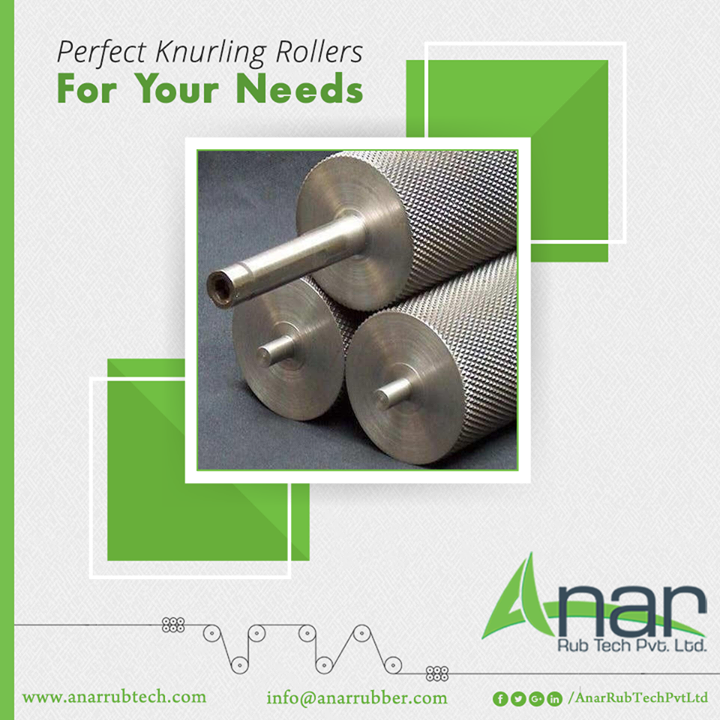 Do you want your knurling rollers to be durable, corrosion-resistant, reliable and moisture resistant? At Anar Rubber, we excel in production of several types of Knurling Rollers (Brush Rollers) with length customisation of up to 3000 metres.You can use it for packing, wrapping, printing, rewinding, unwinding, slitting and tracking.  #KnurlingRollers #KnurlingRollersManufacturers #KnurlingRollersSuppliers #KnurlingRollersExporters