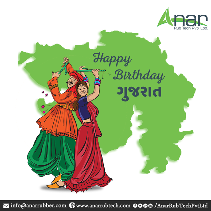 On this special day, let us be grateful to all the love and compassion given by the land of Gujarat and spread the happiness. #HappybirthdayGujarat #Gujaratday #AnarRubTechPvtLtd