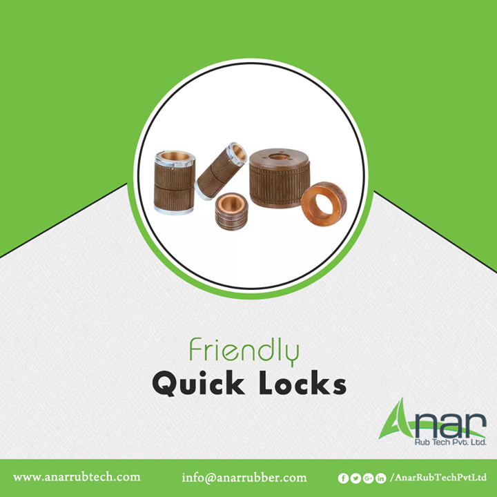 Our cost-efficient, durable and feasibly uncomplicated quick locks come with a multitude of advantages. They come in different sizes and make unloading of finished rolls extremely easy, even the allocation of cores is very easy. It also eliminates paper core dust, saves valuable time in setting and can grip PVC without slipping. We offer you different types of quick locks according to your needs. To know more, log on to http://www.anarrubber.com/quick-locks.html#main #QuickLocks #QuickLocksManufacturers #QuickLocksSuppliers #QuickLocksExporters