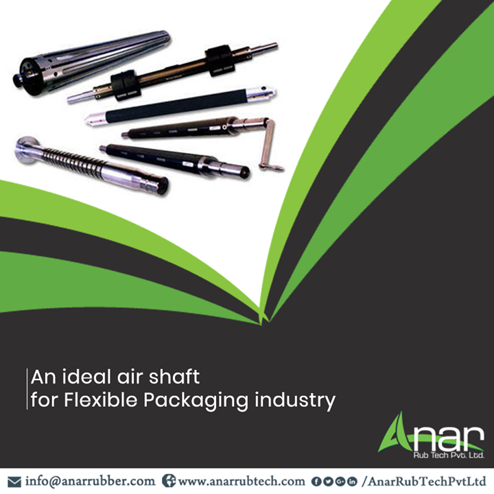 Metalizer Air Shaft is the ideal air shaft by Anar Rub Tech which facilitates the operations in flexible packaging industry. #AnarRubTechPvtLtd