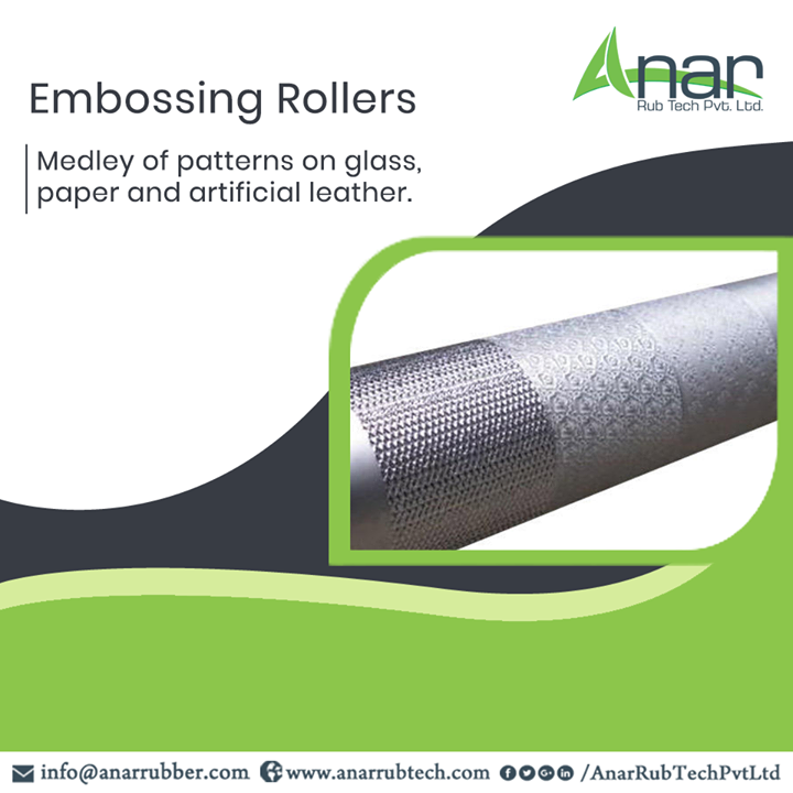Anar Rub Tech manufactures Embossing Rollers that gives medley of patterns on glass, paper, artificial leather and many other materials with ease.  #EmbossingRollers #EmbossingRollersManufacturers #EmbossingRollersSuppliers #EmbossingRollersExporters