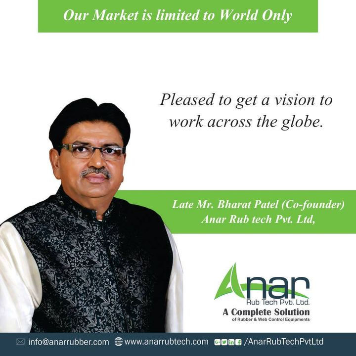 Anar Rub Tech feels grateful to get the vision to work with entire globe from Late Mr. Bharat Patel.  #FathersDay #HappyFathersDay #AnarRubTechPvtLtd