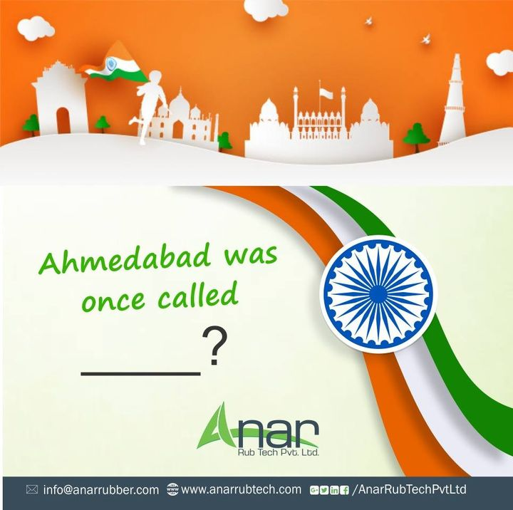 A resident of Ahmedabad since ages? Then you are the perfect one to answer this question. Leave us your answer in comment section and let us know your heritage knowledge. #happyindependenceday #RubberRollerManufacturer  #RubberRollerExporters  #RubberRollerSuppliers