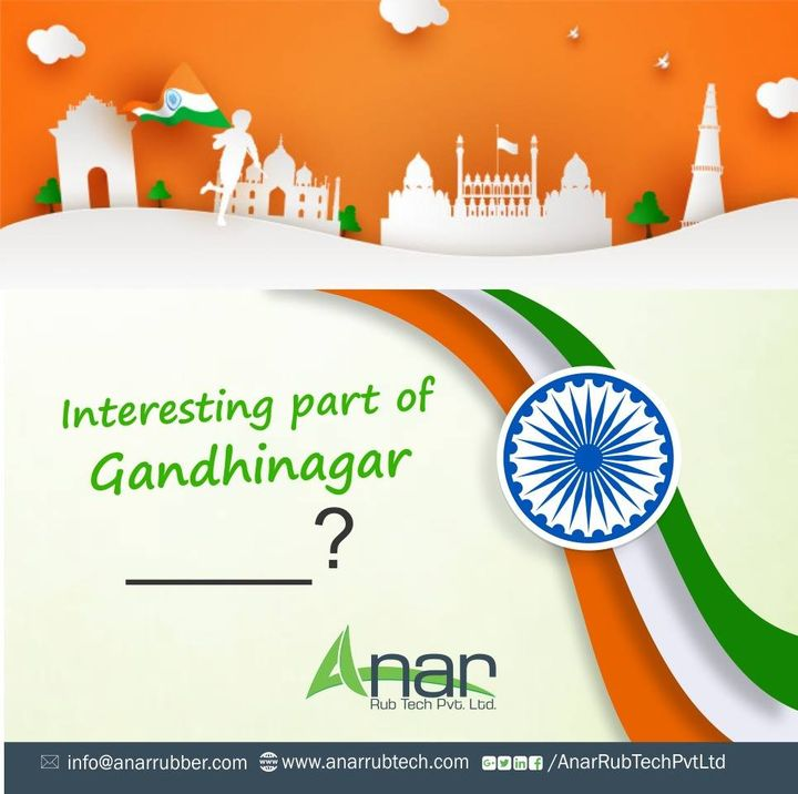 What makes this city the Capital of Gujarat?   If you know interesting part, then answer us in the comment section now.  #happyindependenceday #RubberRollerManufacturer  #RubberRollerExporters  #RubberRollerSuppliers