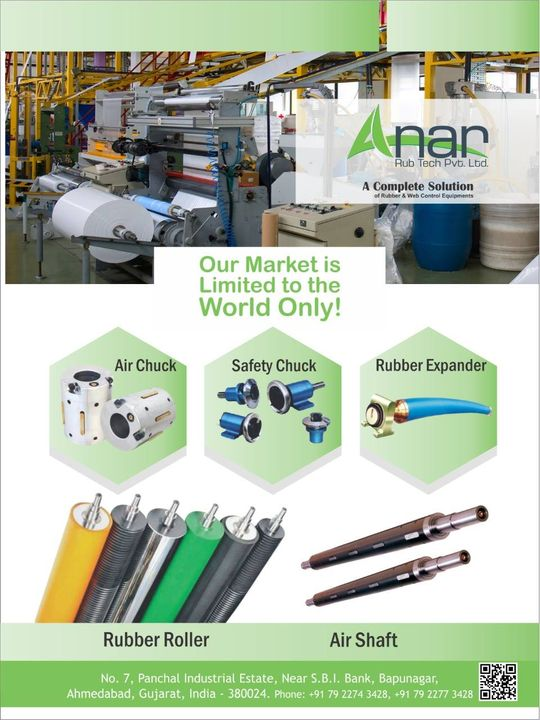 Check out the well known products of Anar Rub Tech in the latest magazine issue of relevant industrial products. #magazinepost  #RubberRollerManufacturer  #RubberRollerExporters  #RubberRollerSuppliers