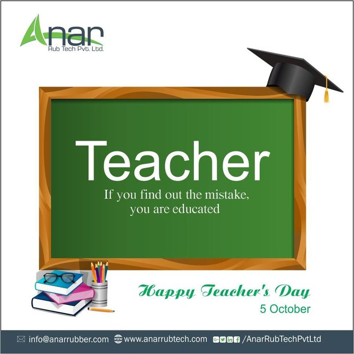 We can learn something from everyone everyday. We wish a Happy #TeachersDay to everyone we have learnt from. #happyteachers day #RubberRollerManufacturer  #RubberRollerExporters  #RubberRollerSuppliers